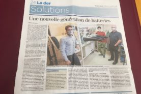 TDG article on our research on battery